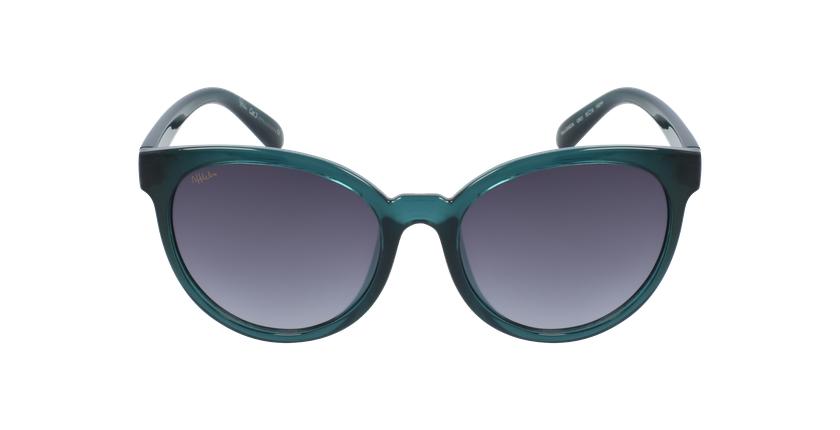 Óculos de sol senhora GANDIA GR cristal/verde - Vista de frente