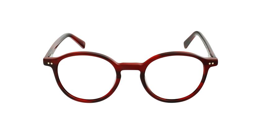 Lunettes de vue homme RENAN rouge - Vue de face