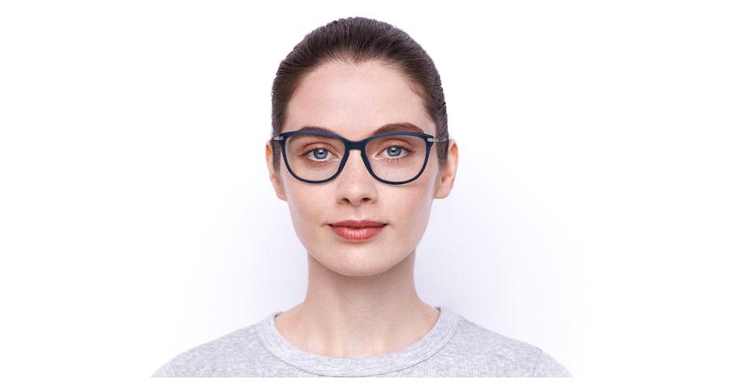 Lunettes de vue femme OAF20520 bleu - Vue de face