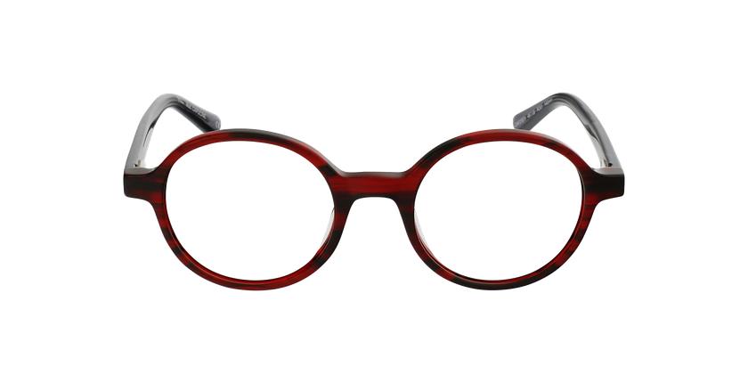 Lunettes de vue femme CAPUCINE rouge - Vue de face