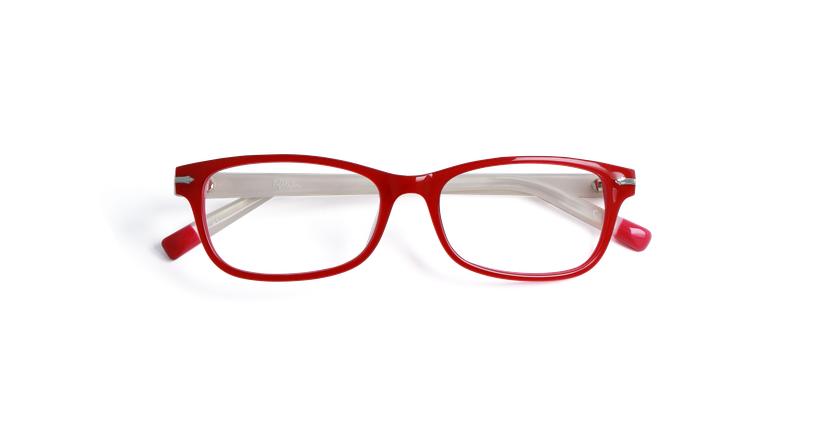 Gafas graduadas mujer KENT rojo - vista de frente