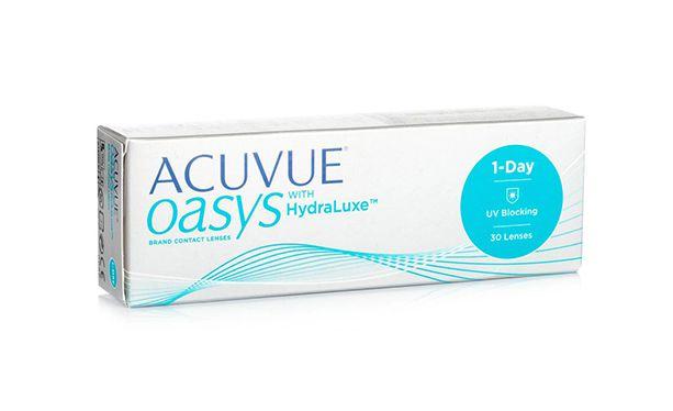 Lentilles de contact Acuvue® Oasys® 1 Day with Hydraluxe™ 30L - Vue de face
