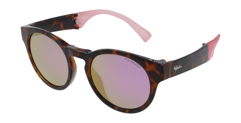 Óculos de sol senhora SLALOM TO tartaruga /rosa - vue de 3/4