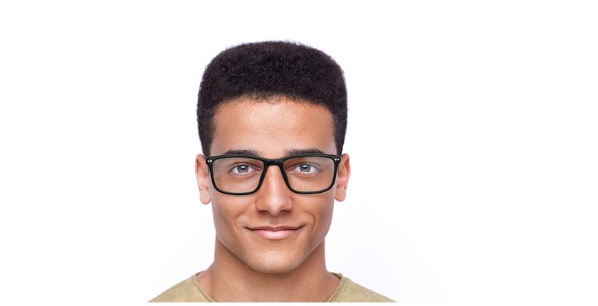 Óculos graduados homem GWENDAL BK (TCHIN-TCHIN +1€) preto/cinzento - Vista de frente