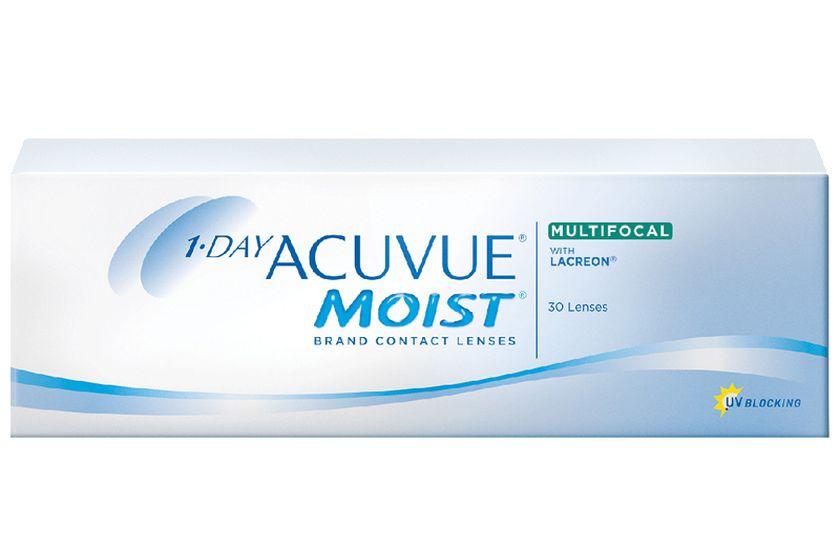 Lentilles de contact 1 Day Acuvue® Moist® Multifocal High 30L - vue de face