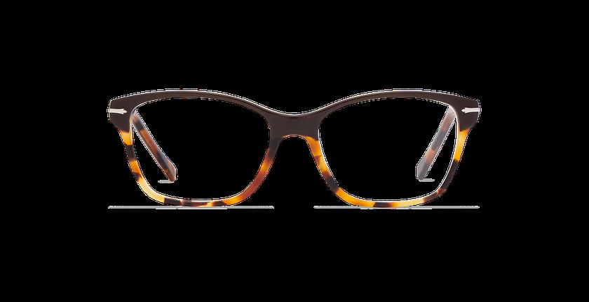 Gafas graduadas mujer LADOYE marrón/carey - vista de frente