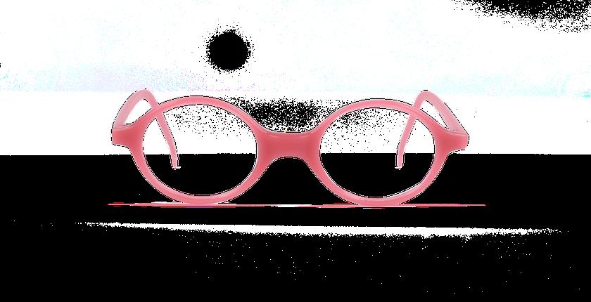 Lunettes de vue enfant MAEL rose - vue de face
