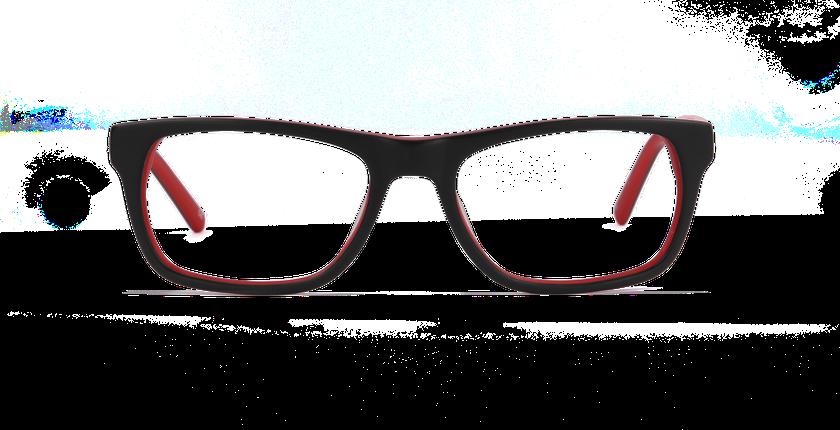 Lunettes de vue homme EVAN noir - vue de face