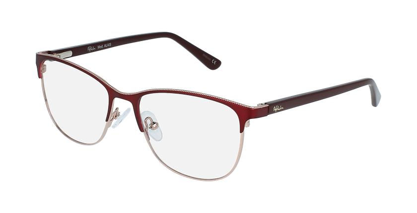 Óculos graduados senhora ALAIS RD (TCHIN-TCHIN +1€) vermelho - vue de 3/4