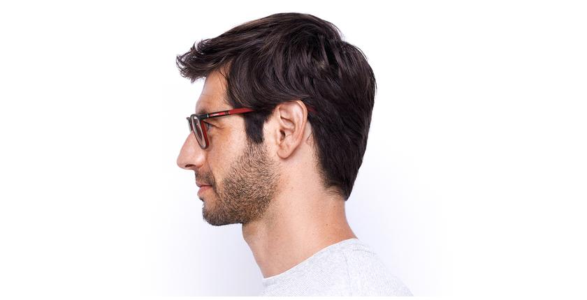 Óculos graduados homem MALO BK (TCHIN-TCHIN +1€) preto/vermelho - Vista lateral