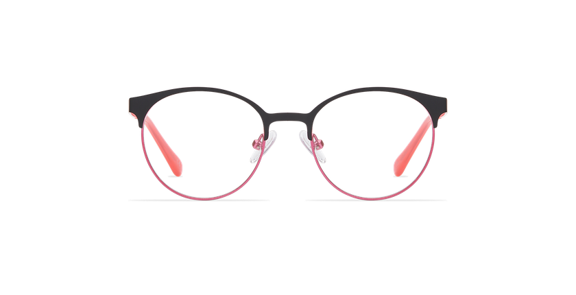 Óculos graduados criança AYLA BKPK preto/rosa - Vista de frente