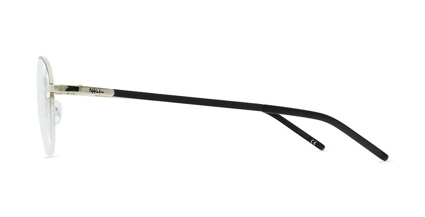 Lunettes de vue femme DOMI noir/doré - Vue de côté
