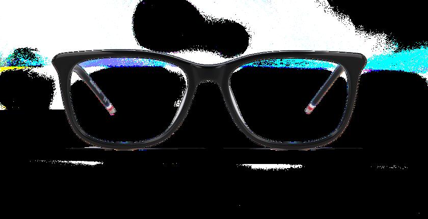 Lunettes de vue femme YLANG noir - Vue de face