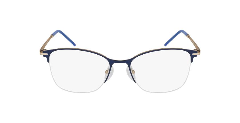 Lunettes de vue femme VEGA bleu/doré - Vue de face