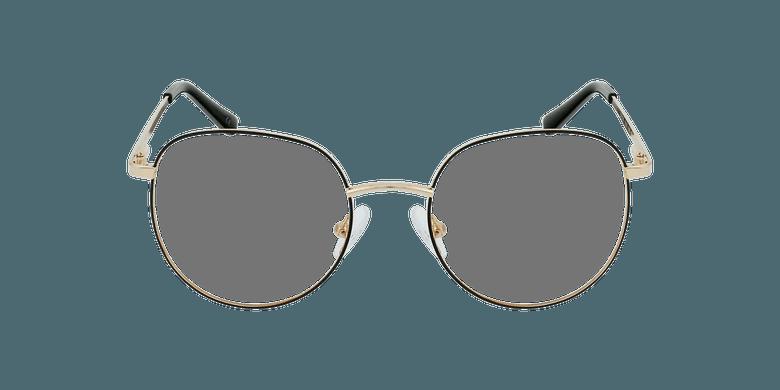 Gafas graduadas mujer JOANNA negro/doradovista de frente