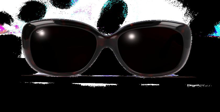 Lunettes de soleil femme AMANDA écaille - vue de face