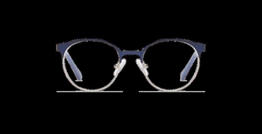 Gafas graduadas niños AYLA azul/plateado - vista de frente