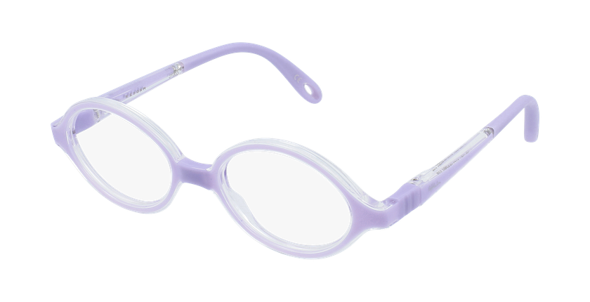 Lunettes de vue enfant RFOB1 violet - vue de 3/4