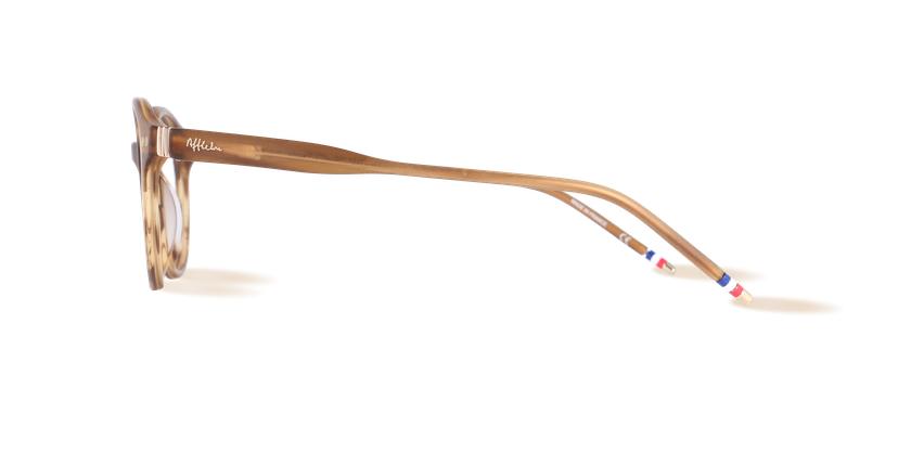 Lunettes de vue homme LIMBA marron - Vue de côté