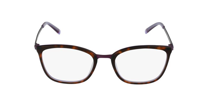 Lunettes de vue femme BEETHOVEN écaille/violet - Vue de face