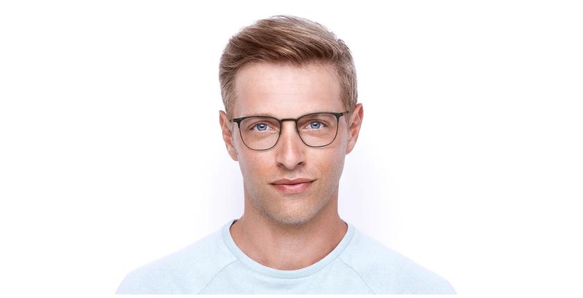 Lunettes de vue homme ARGON marron/doré - Vue de face