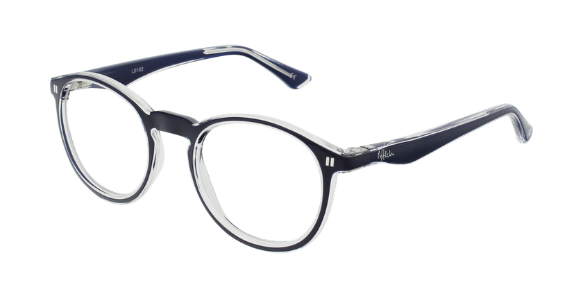 Óculos graduados criança REFORM TEENAGER (J4 BL) azul - vue de 3/4