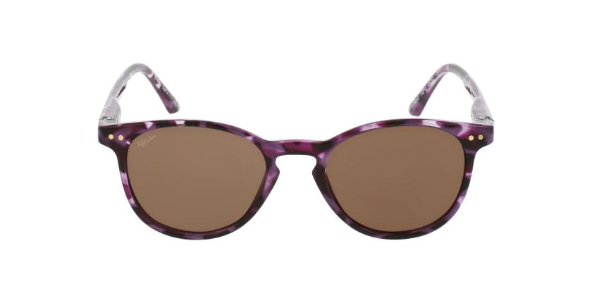Óculos de sol criança FELIZ TOPU tartaruga/violeta - Vista de frente