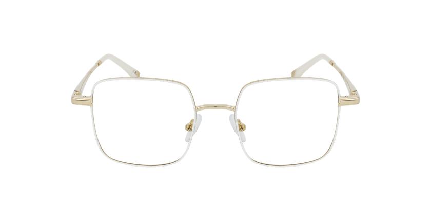 Óculos graduados senhora MAGIC 94 WH branco/dourado - Vista de frente