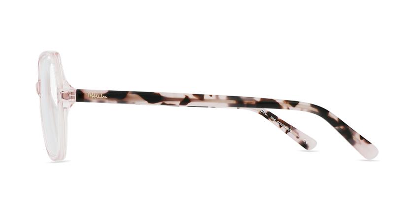 Óculos graduados senhora CONSTANCE PK (TCHIN-TCHIN +1€) rosa - Vista lateral