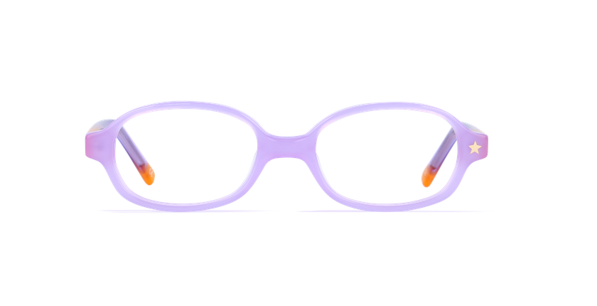 Gafas graduadas niños LORRIE morado/morado - vista de frente