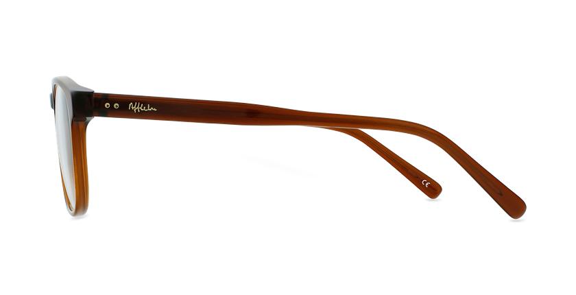 Óculos graduados homem CLOVIS BR (TCHIN-TCHIN +1€) castanho - Vista lateral