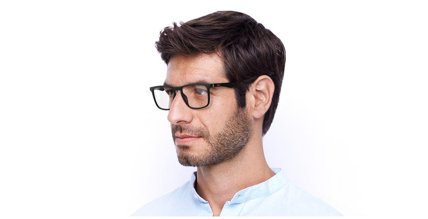 Óculos graduados homem MAGIC 38 BLUEBLOCK - BLOQUEIO LUZ AZUL preto - vue de 3/4