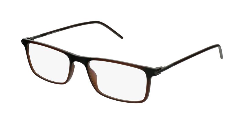 Lunettes de vue homme TMF72 marron - vue de 3/4