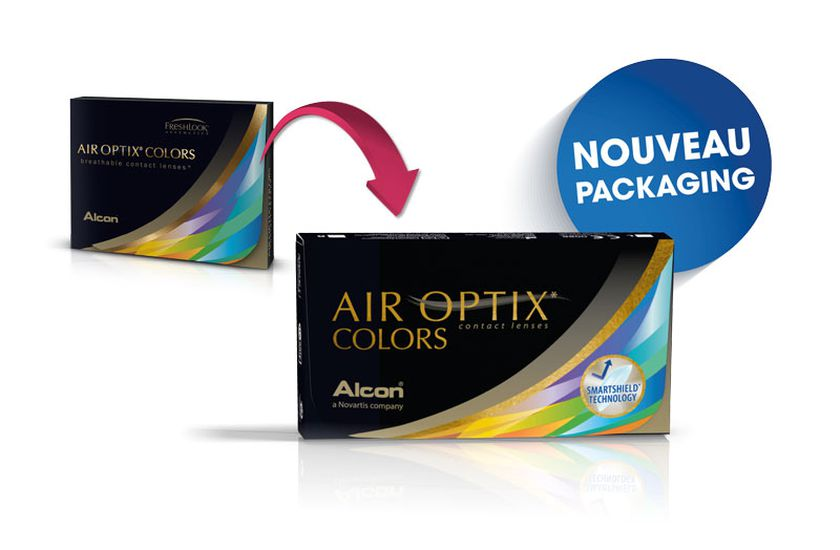 Lentilles de contact Air Optix Color 2L - Vue de face