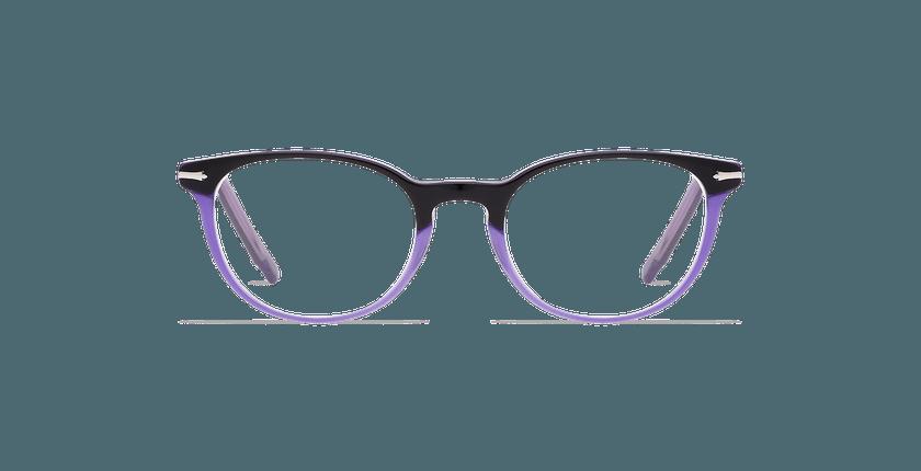 Gafas graduadas mujer NANTUA negro/morado - vista de frente