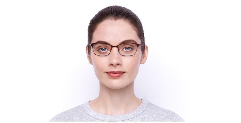 Lunettes de vue femme SHIRLEY rouge - Vue de face