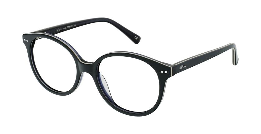 Óculos graduados criança SAMANTHA GR (TCHIN-TCHIN +1€) verde/preto - vue de 3/4