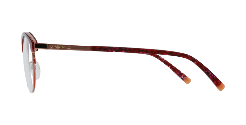 Lunettes de vue femme STRAUSS écaille/rouge - Vue de côté