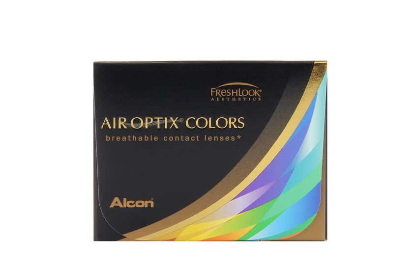 Lentilles de contact Air Optix Colors Green 2L - vue de face