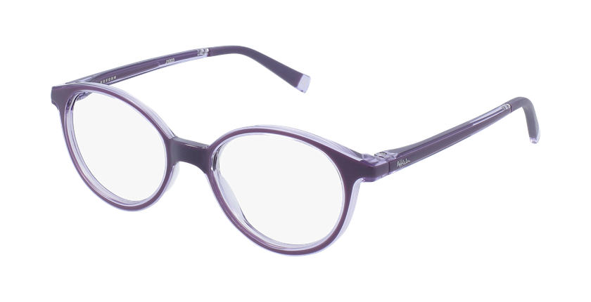Óculos graduados criança RFOP2 PU REFORM violeta - vue de 3/4