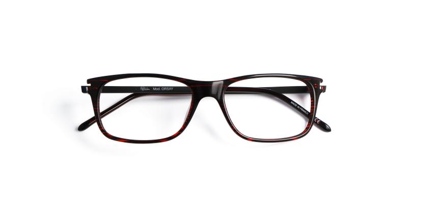 Óculos graduados homem ORSAY vermelho - Vista de frente