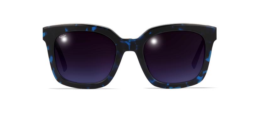 Lunettes de soleil femme CECILE écaille/bleu - Vue de face