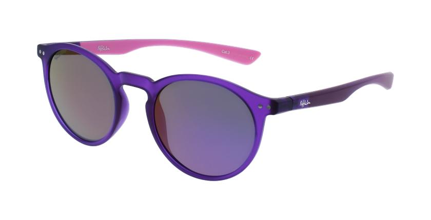 Óculos de sol senhora KESSY POLARIZED PUPK violeta/rosa - vue de 3/4