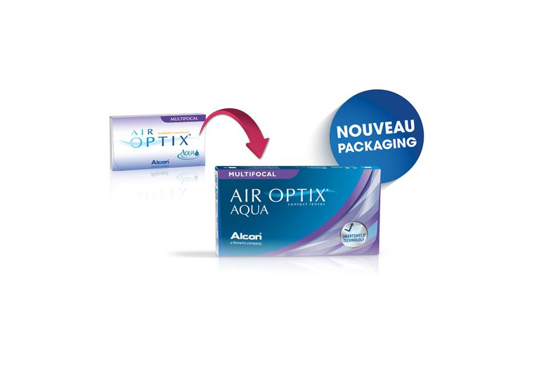 Lentilles de contact Air Optix Aqua Multifocal 6L
