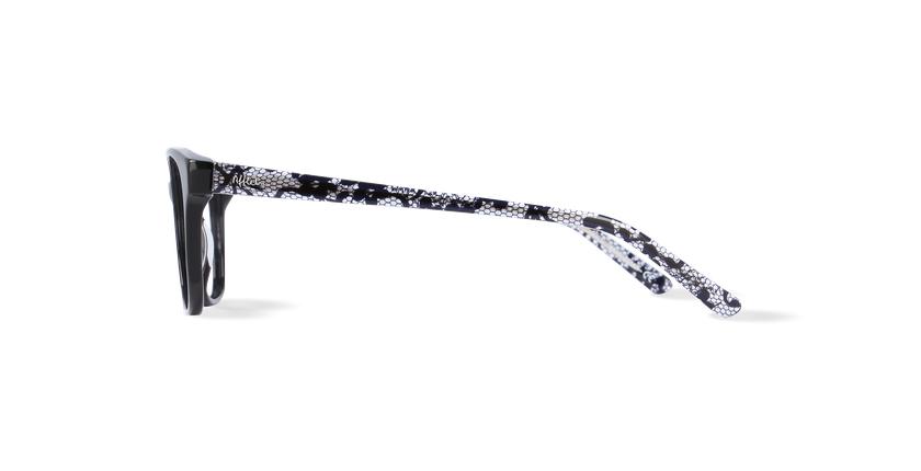 Lunettes de vue femme ZELIA noir - Vue de côté