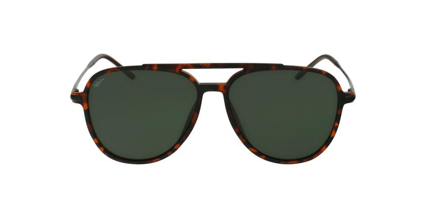 Óculos de sol homem RILEY POLARIZED TO tartaruga /preto - Vista de frente