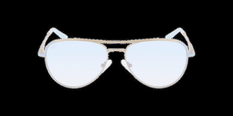 Lunettes de vue femme ANELIE doré/bleuVue de face
