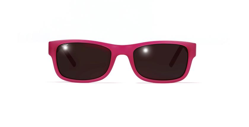 Lunettes de soleil enfant GABY rose/violet - Vue de face