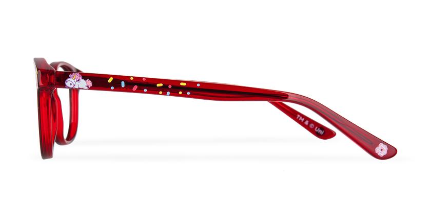 Lunettes de vue enfant FLUFFY2 rouge - Vue de côté