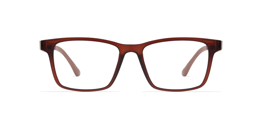 Gafas graduadas hombre SMART TONIC 01 marrón - vista de frente